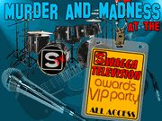 Murder and Madness at the STV Music Awards VIP Party  (All male) - Murder Mystery Party / A rockin' and rollin' rock star murder mystery party game for 15+ guys, ages 13 and up! This is an all-male teen rock star murder mystery party!