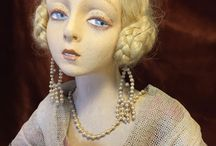 Dolls: Boudoir/salon / Lenci and French boudoir/salon dolls and other makes.