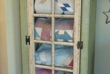 Kantha quilt displays
