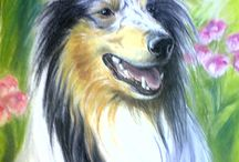 Dog drawings by Erika Reponen art