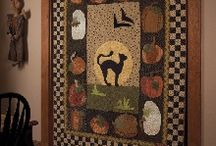 Primitive and wool quilts