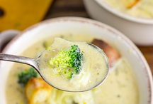 Sopa de queso y brocoli