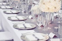 White and silver party ideas / White and Silver table settings and ideas