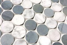 Penny Round Marble Mosaics / Penny Round Marble Mosaics from http://allmarbletiles.com