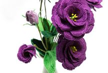 hæklede blomster