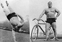 Old school strength / Weightlifting, powerlifting, strongman, from back in the days.