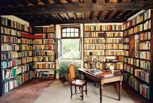 Bookcase Love / Bookcases that are built-in, freestanding, holders of art, literature, knick-knacks, paddywhacks and dogs bones. / by Patricia Roy