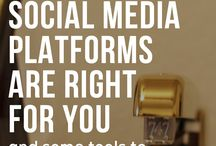 Social Media Resources / Social media and digital strategy resources for creatives,  small business owners and bloggers -- establish your platform, engage with your audience genuinely and grow your brand. / by Callie Gisler