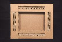 Cornici #portafoto in cartone / #Frames for picture in pressed #cardboard - 1012ecodesign.it / Ogni cornice è dedicata ad una donna diventata famosa nel corso della storia. Each frame is named after a famous woman in different arts.