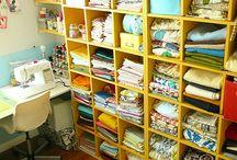 Sewing Organizing My Sewing Room / by Melanie Saderholm