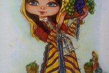 köylü kızı tablo