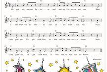 Lieder, Noten