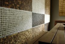 Coconut mosaic tiles decoration gallery / The nature coco mosaic tiles give your home the feeling of warmth,natural,elegance,stylish and yet very green in environment.   www.hsdhome.com