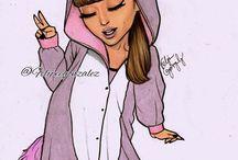 Ariana Grande draw