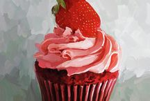 cupcake painting canvas