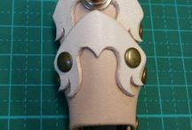 Armor Ring / leather handmade armor ring レザー ハンドメイド アーマー リング steampunk