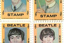 """The Beatles"" on stamp"