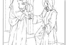 coloriage catholique / Testament Ancienne, Nouveu Testament, Saintes / by inge radz