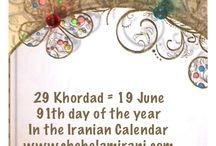 29 Khordad = 19 June / 91th day of the year In the Iranian Calendar www.chehelamirani.com