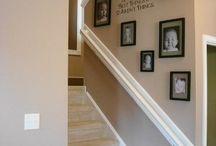 Стена возле лестницы