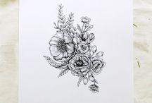 Floral Tattoo Art