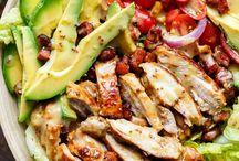 Chicken bacon advocado salad