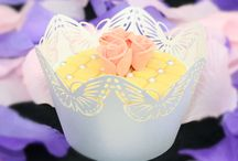 Laser Cut Cupcake Wrapper / Have more than 100 designs laser cut cupcake wrapper, it's available in different colors for each design, suitable for all occasions, like wedding, party, birthday....