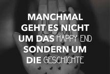 Sprüche / Happy end <-> story