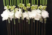 Créations florales ..pureté du blanc et vert !