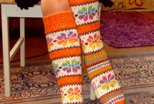 Knitted socks, stockings, leggings