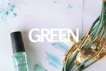 GREEN Mixify Polish Create your own nail polish color / Get creative with your greens! Inspiration for blue nail polish creations
