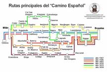 Las rutas / Las rutas principales del Camino Español
