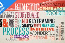 After effects Kinetic Typography / There are several kinetic typography templates for after effects from http://s9motion.com/
