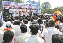 AISMK Party members protest against FDI