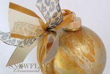 Gold Glass Ornaments