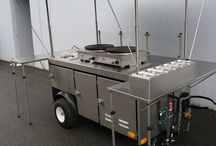 Apollo Custom built Crepe Food Cart / One of our custom built Street Food Carts. This is for Crepe and has LPG Gas Krampouz Griddles, refrigeration and Hand wash and Ware Wash Sinks.  More at www.apollocarts.com