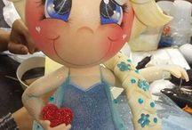 bonecas feitas em EVA