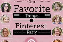 Our Favorites Things Pinterest Party / Our Favorite Things Pinterest Party Pins
