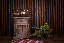 Пасхальные фотосессии / Нежные, пасхальные фотосессии с цыплятами в фотостудии Маска