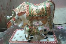 Marble Cow Drink to Milk Cow Child / Girnar crafts presents a mother drink to milk our child show on a decorative items a mother how to care this your child its nice looking to good this items..............a Indian culture show this items ....
