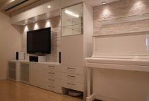 テレビボード☆ / IKEAのテレビボード施工例 http://ameblo.jp/ikea-garage/