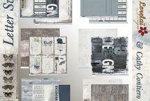 """kit de scrap """"Letter Sweet"""" / Kit de scrapbooking avec les feuilles de Lorelaï Design Retrouvez tous nos kits de scrap dans notre boutique en ligne : http://www.paperandsuppulies.be/boutique"""