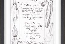 Hand-Drawn Menus by Jacques Pepin / Jacques often letters and illustrates menus for special occasions, from simple dinners to large boules parties. This board features some of them including some signed for sale at jacquespepinart.com.