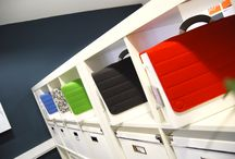 HB-TWO / HB-two - Bright, light and personal, HB-two is the flexible portable storage system for all your work. Choose the interior storage to suit your needs and finish off with a fabric cover of your choice. Carry your laptop, tablet, files and pens in style and individualise your space.