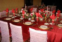 Enchanting Décor and Theme Events / Our talented staff loves to transform spaces into alluring destinations. Special effect lighting, decorative table linens, specialty chairs, and graceful draping all contribute to the finesse & style of the wedding.