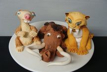 Ice age cake toppers