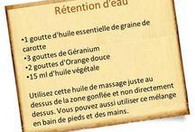 recette de massage pour rétention d'eau