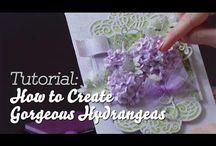 Hjemmelavede papirs blomster