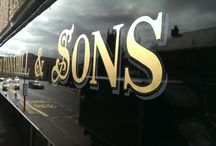 gold leaf / a selection of gold leaf work we've carried out