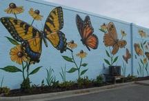 bahçe duvar sanatı